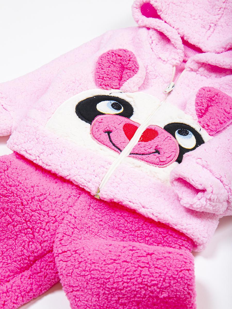 Комплект махровый детский: кофточка и штанишки, цвет: светло-розовый