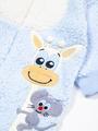 Комбинезон махровый детский, цвет: голубой