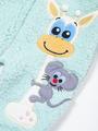 Комбинезон махровый детский, цвет: мятный