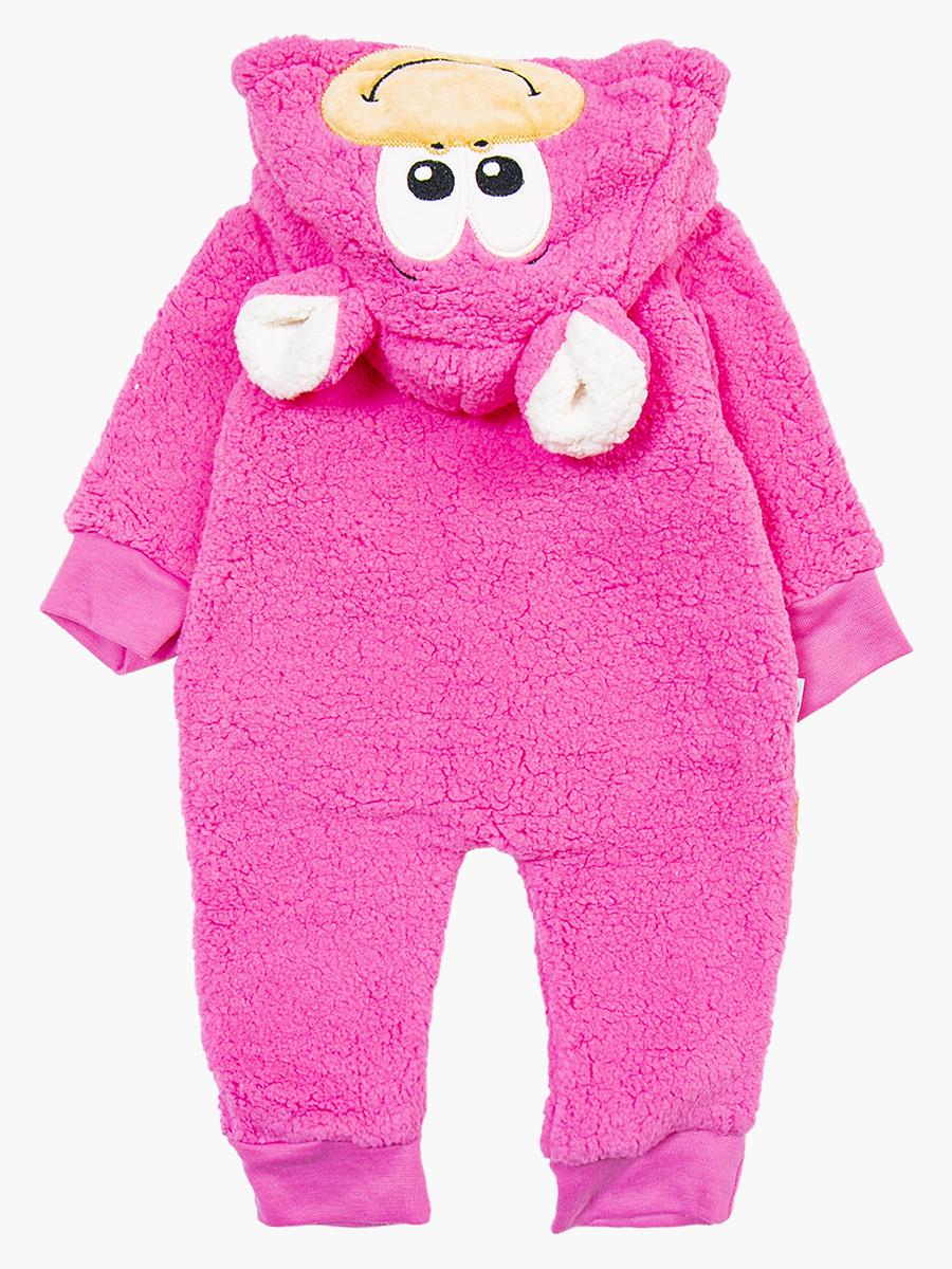 Комбинезон махровый детский, цвет: розовый