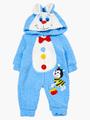 Комбинезон махровый детский, цвет: синий