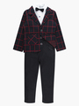 Комплект для мальчика: рубашка с бабочкой, брюки и пиджак, цвет: черный