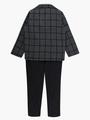 Комплект для мальчика: рубашка с бабочкой, брюки и пиджак, цвет: темно-серый