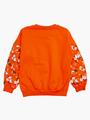 Комплект с начесом для девочки: толстовка и штанишки, цвет: коралловый