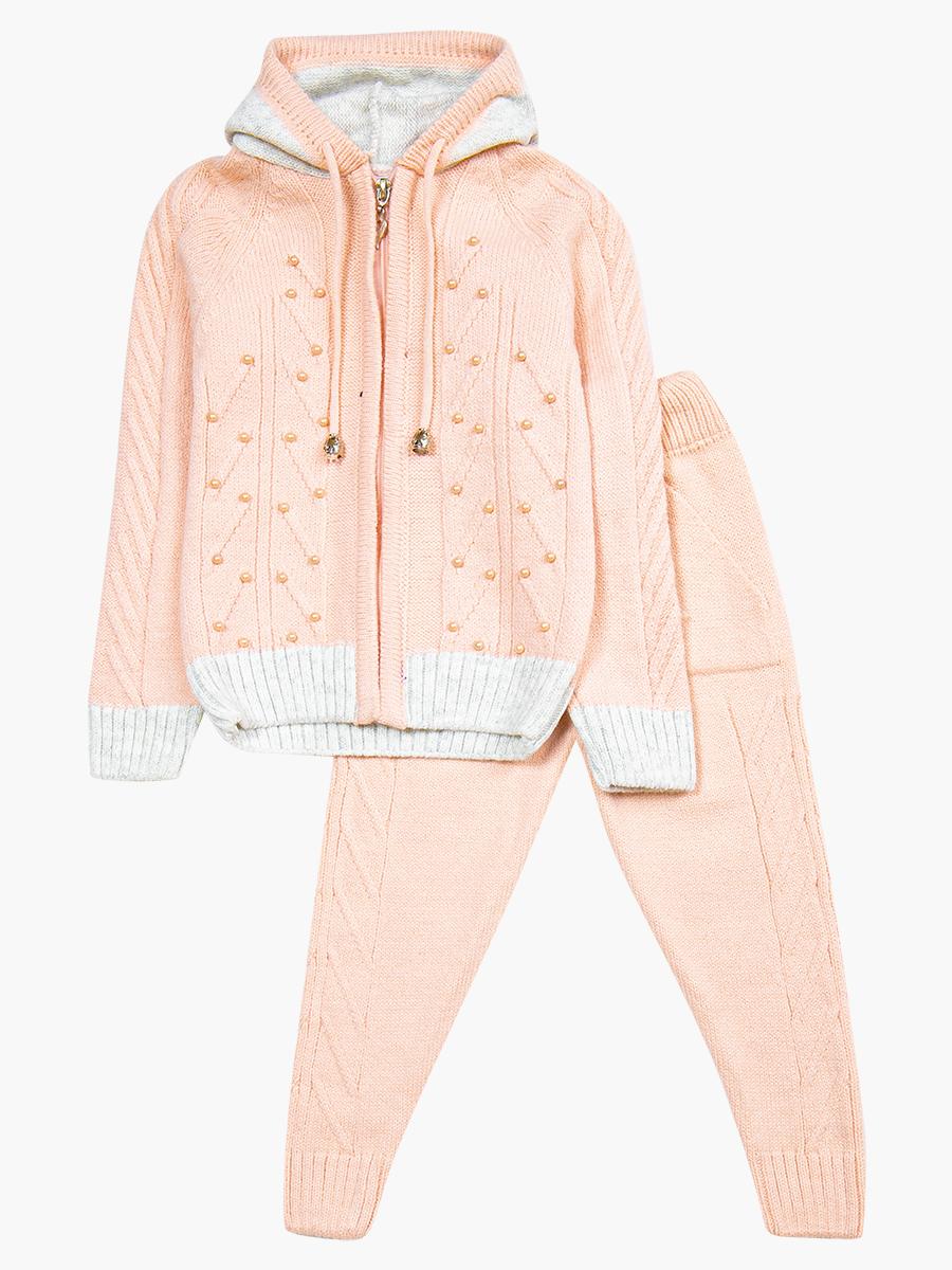 Комплект для девочки: кофта и рейтузы, цвет: светло-розовый