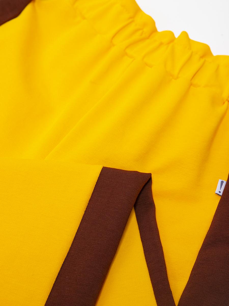 Брюки кюлоты с завышенной талией для девочки, цвет: шафрановый