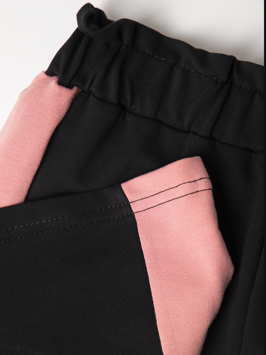 Брюки кюлоты с завышенной талией для девочки, цвет: черный
