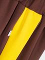 Брюки кюлоты с завышенной талией для девочки, цвет: шоколадный