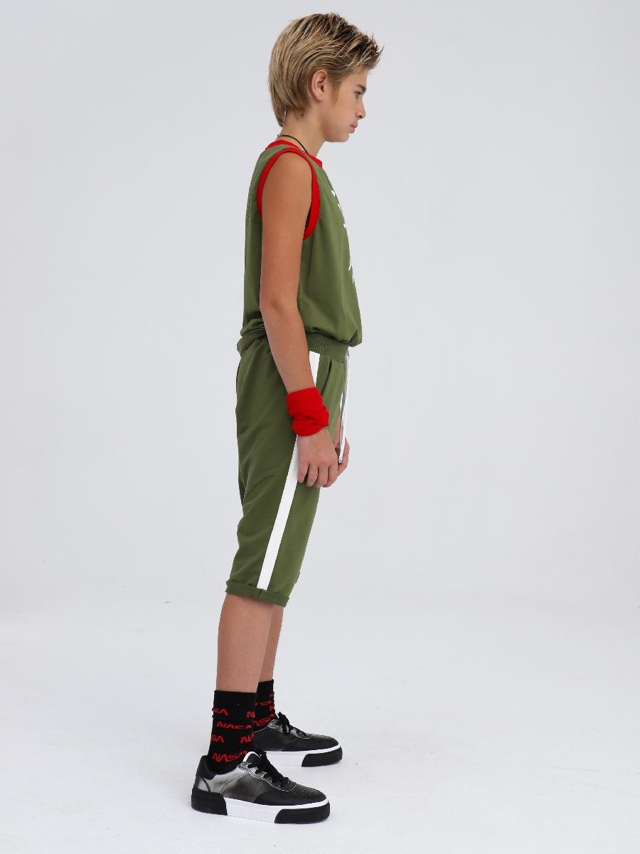 Майка для мальчика, цвет: темный хаки