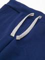 Брюки спортивные прямые со средней посадкой для мальчика, цвет: темно-синий