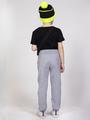 Брюки спортивные прямые со средней посадкой для мальчика, цвет: серый меланж
