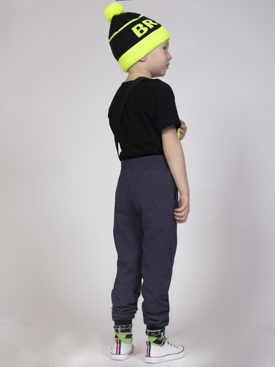 Брюки спортивные прямые со средней посадкой для мальчика, цвет: деним