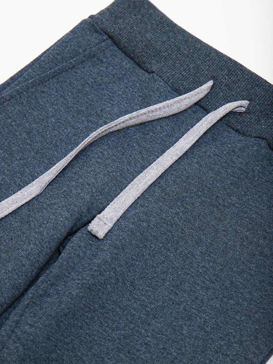 Брюки спортивные прямые со средней посадкой для мальчика, цвет: темно-серый