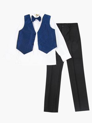 Костюм для мальчика: жилет,брюки,рубашка и бабочка