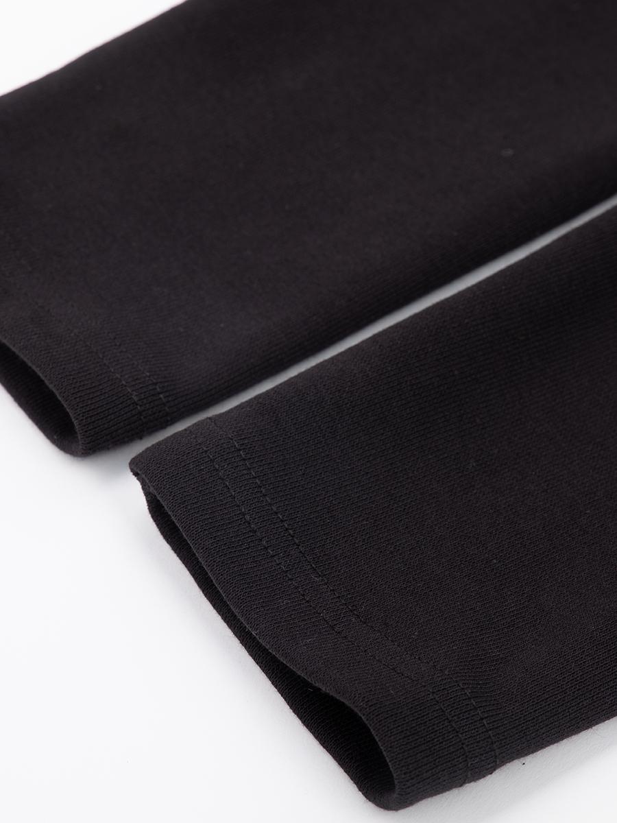 Леггинсы с начесом для девочки, цвет: черный