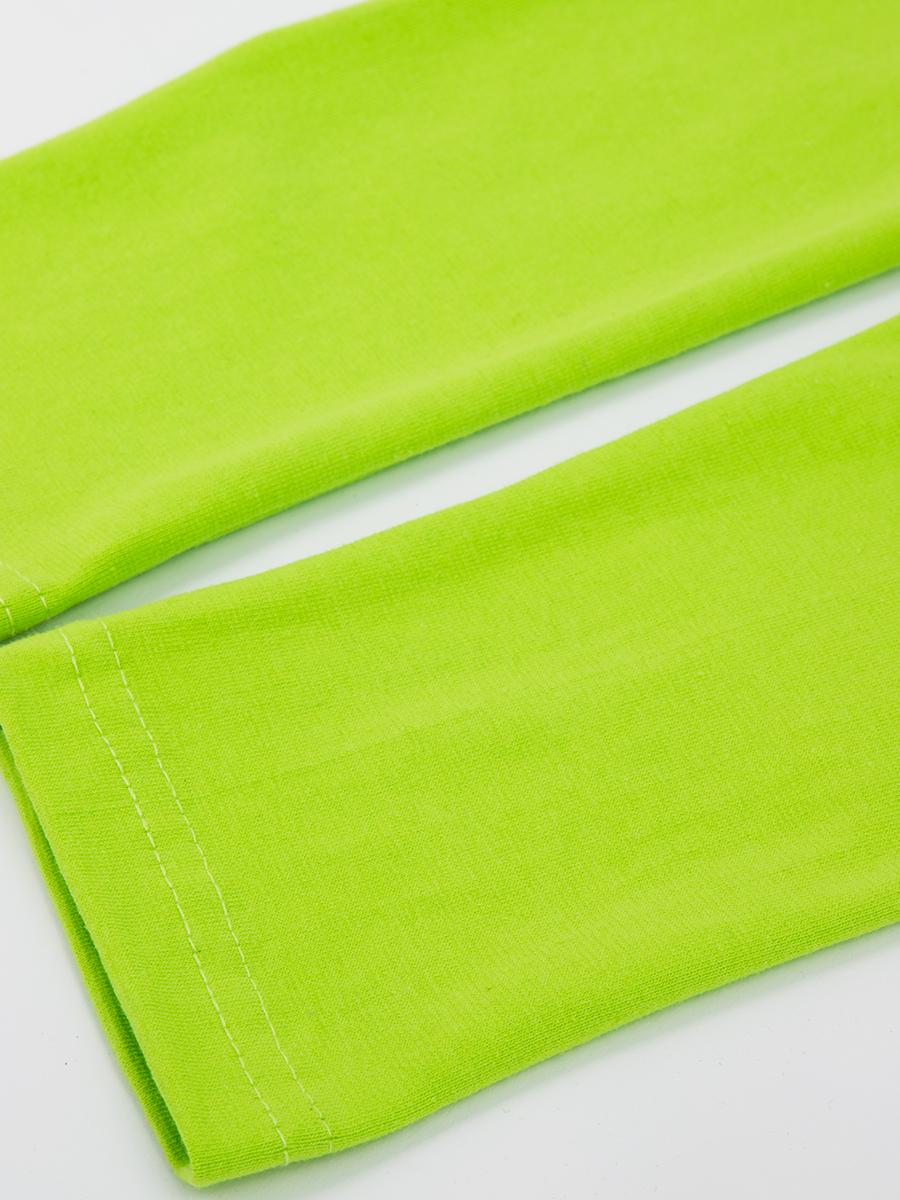 Леггинсы для девочки, цвет: салатовый