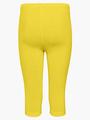 Леггинсы укороченные для девочки, цвет: лимонный