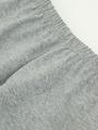 Леггинсы укороченные для девочки, цвет: серый меланж