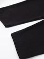 Леггинсы укороченные для девочки, цвет: черный