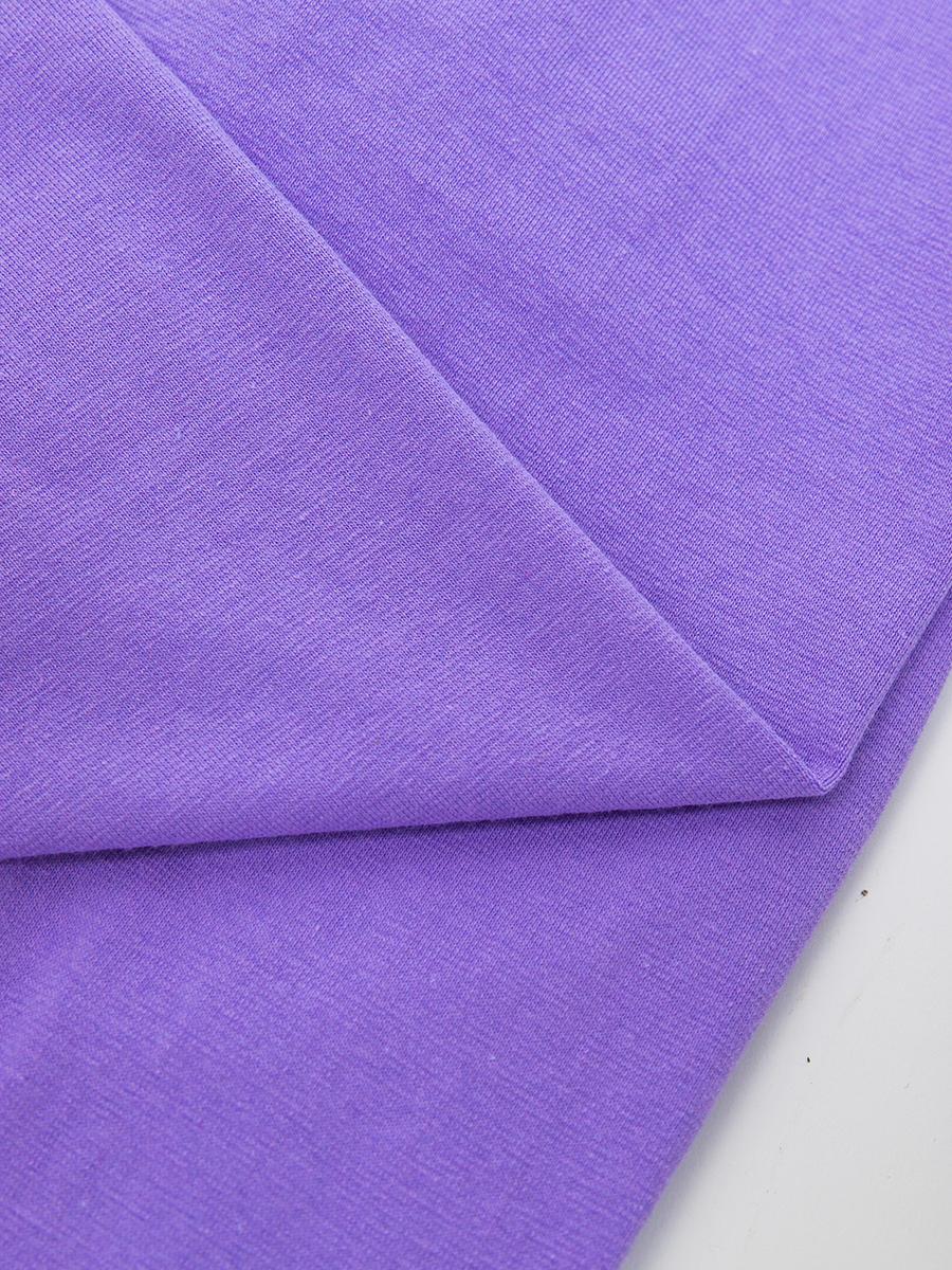 Леггинсы укороченные для девочки, цвет: сиреневый