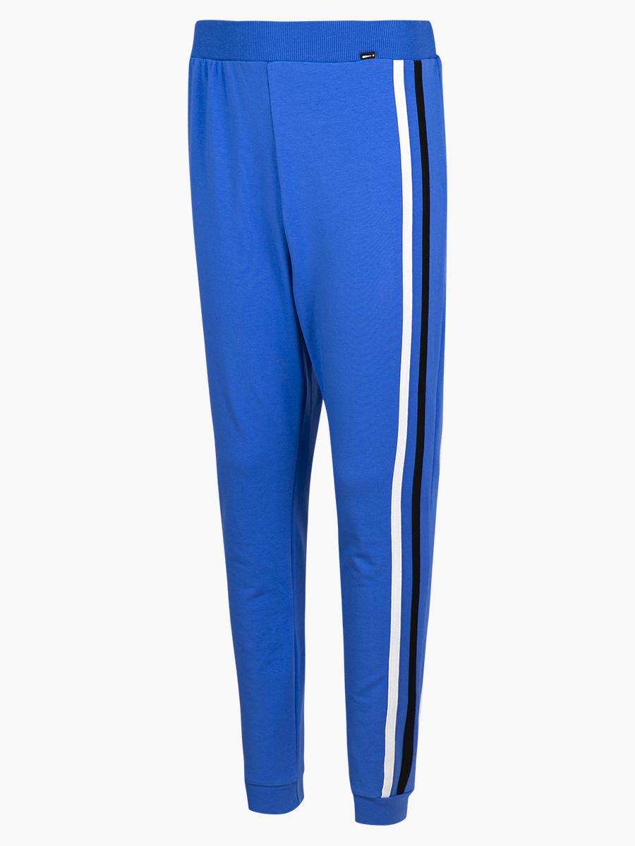 Брюки спортивные зауженные со средней посадкой для мальчика, цвет: джинс