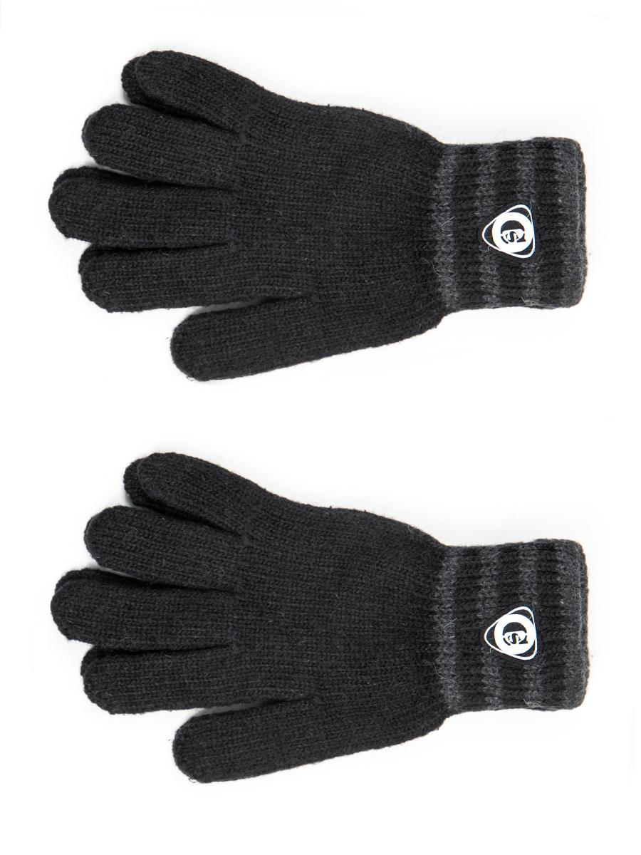 Перчатки подростковые для мальчика, цвет: черный