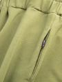 Брюки кюлоты с завышенной талией для девочки, цвет: темный хаки