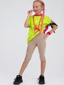 Бриджи облегающие со средней посадкой для девочки, цвет: кэмел