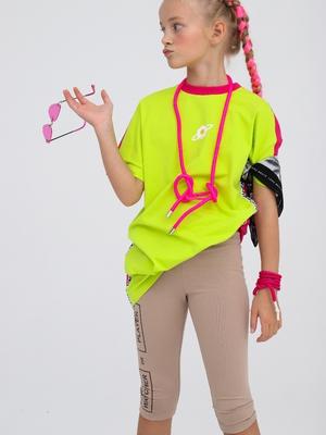 Бриджи облегающие со средней посадкой для девочки