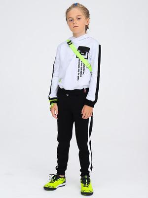 Костюм спортивный: толстовка свободного силуэта и брюки прямые со средней посадкой