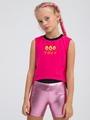 Бриджи облегающие со средней посадкой для девочки, цвет: фуксия