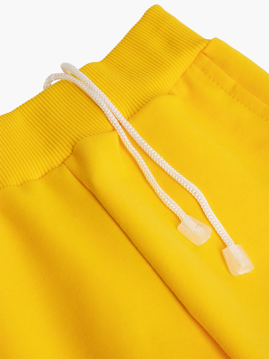 Брюки спортивные детские, цвет: желтый