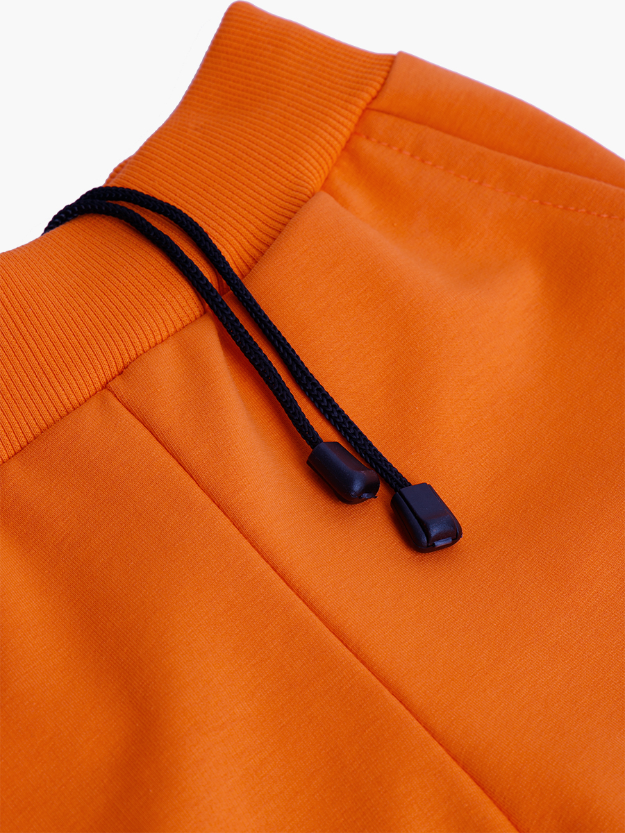 Брюки спортивные детские, цвет: оранжевый