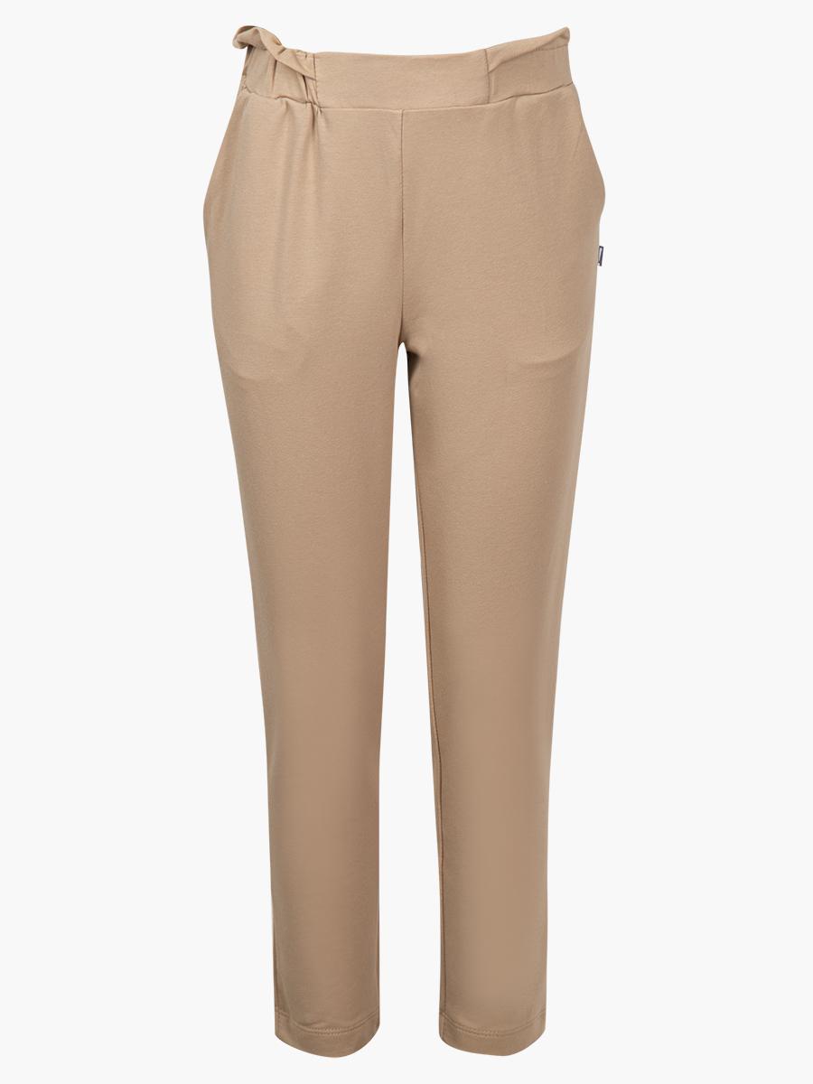 Комплект:толстовка и брюки зауженные с завышенной талией, цвет: кэмел