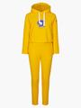 Комплект: толстовка и брюки зауженные с завышенной талией, цвет: шафрановый