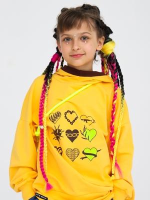 Толстовка с капюшоном для девочки