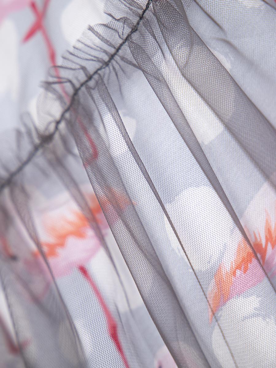 Комплект: из двух платьев А-силуэта, цвет: графит