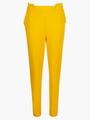 Комплект:толстовка и брюки зауженные с завышенной талией, цвет: шафрановый