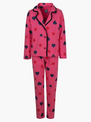 Пижама с начесом для девочки