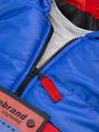 Комплект для мальчика: кофточка трикотажная, штанишки с начесом и жилет болоньевый на синтепоне, цвет: синий