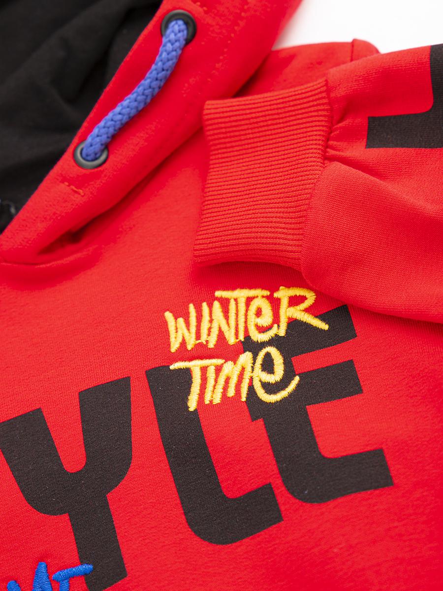Комплект для мальчика: толстовка и штанишки, цвет: красный