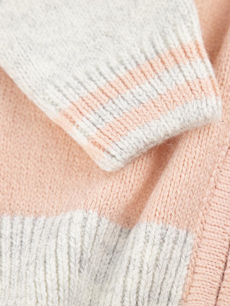Комплект вязаный для девочки: кофта и рейтузы, цвет: светло-серый
