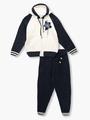 Комплект вязаный для девочки: кофта и рейтузы, цвет: темно-синий