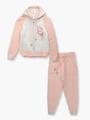 Комплект вязаный для девочки: кофта и рейтузы, цвет: пудра