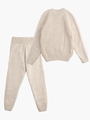 Комплект вязаный для девочки: джемпер и рейтузы, цвет: бежевый