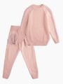 Комплект вязаный для девочки: джемпер и рейтузы, цвет: пудра