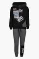 Комплект для мальчика: толстовка и штанишки, цвет: черный