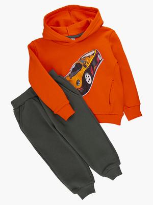 Комплект с начесом для мальчика: толстовка и штанишки