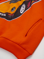 Комплект с начесом для мальчика: толстовка и штанишки, цвет: оранжевый
