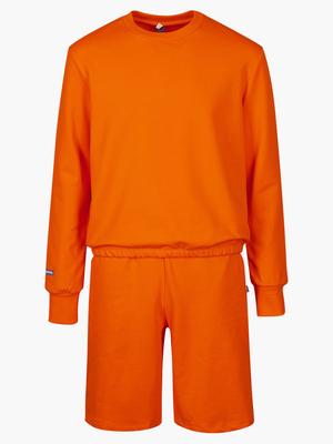 Комплект: свитшот и шорты прямые с завышенной талией